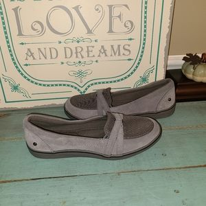 Grasshoppers Ortholite Gray Comfort Loafers